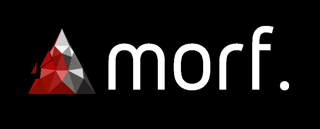 morf. Logo White